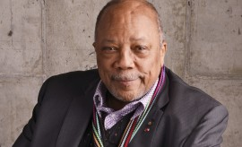 "NEW YORK, NY - APRIL 18:  Music Producer and documentary subject Quincy Jones from ""Keep On Keepin' On"" poses for a portrait at the 2014 Tribeca Film Festival Getty Images Studio on April 18, 2014 in New York City.  (Photo by Larry Busacca/Getty Images for Tribeca Film Festival)"